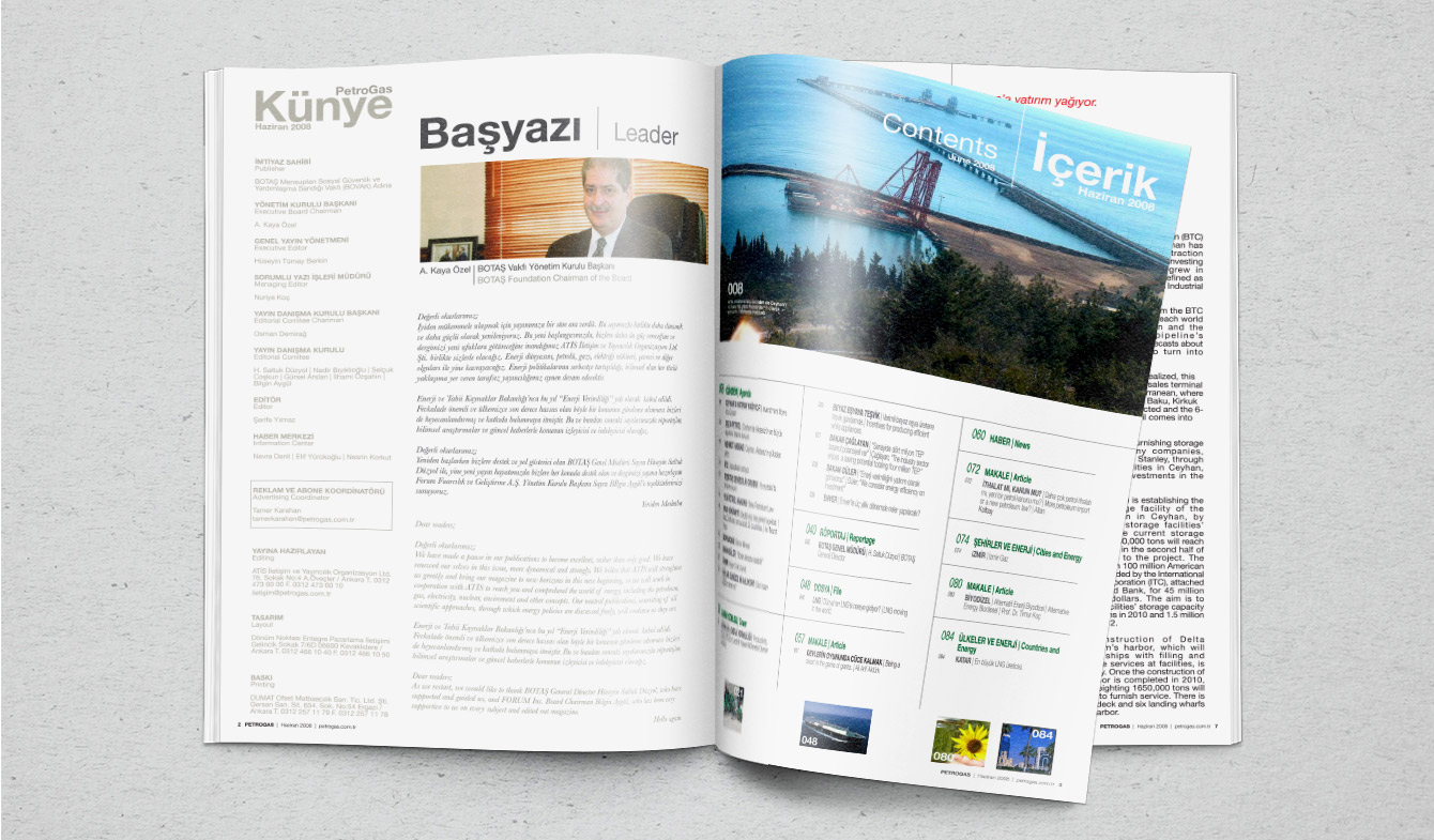 PetroGas Dergisi Tasarım