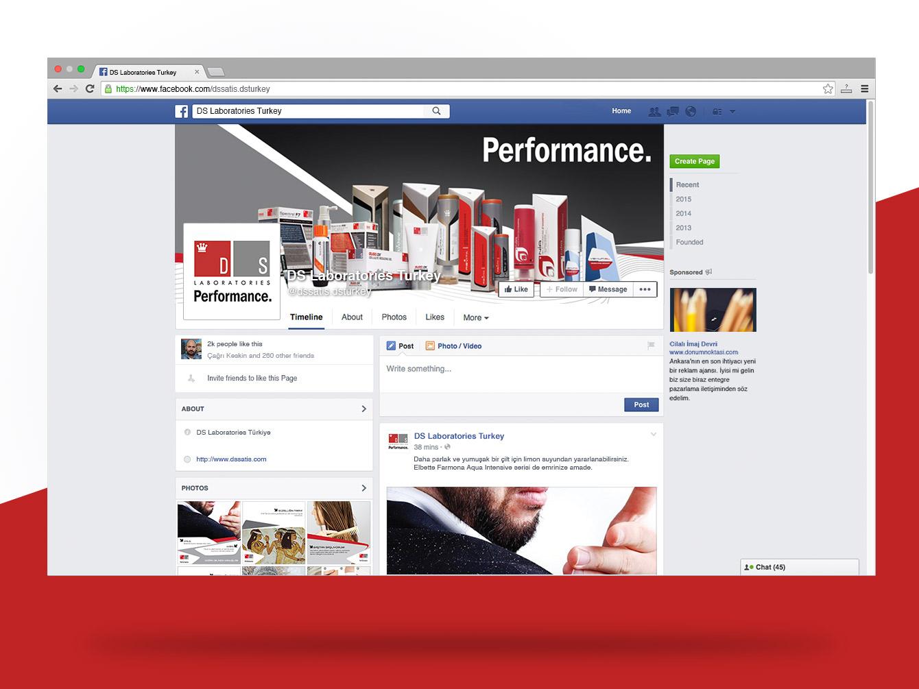 DS Laboratories Facebook Sayfası
