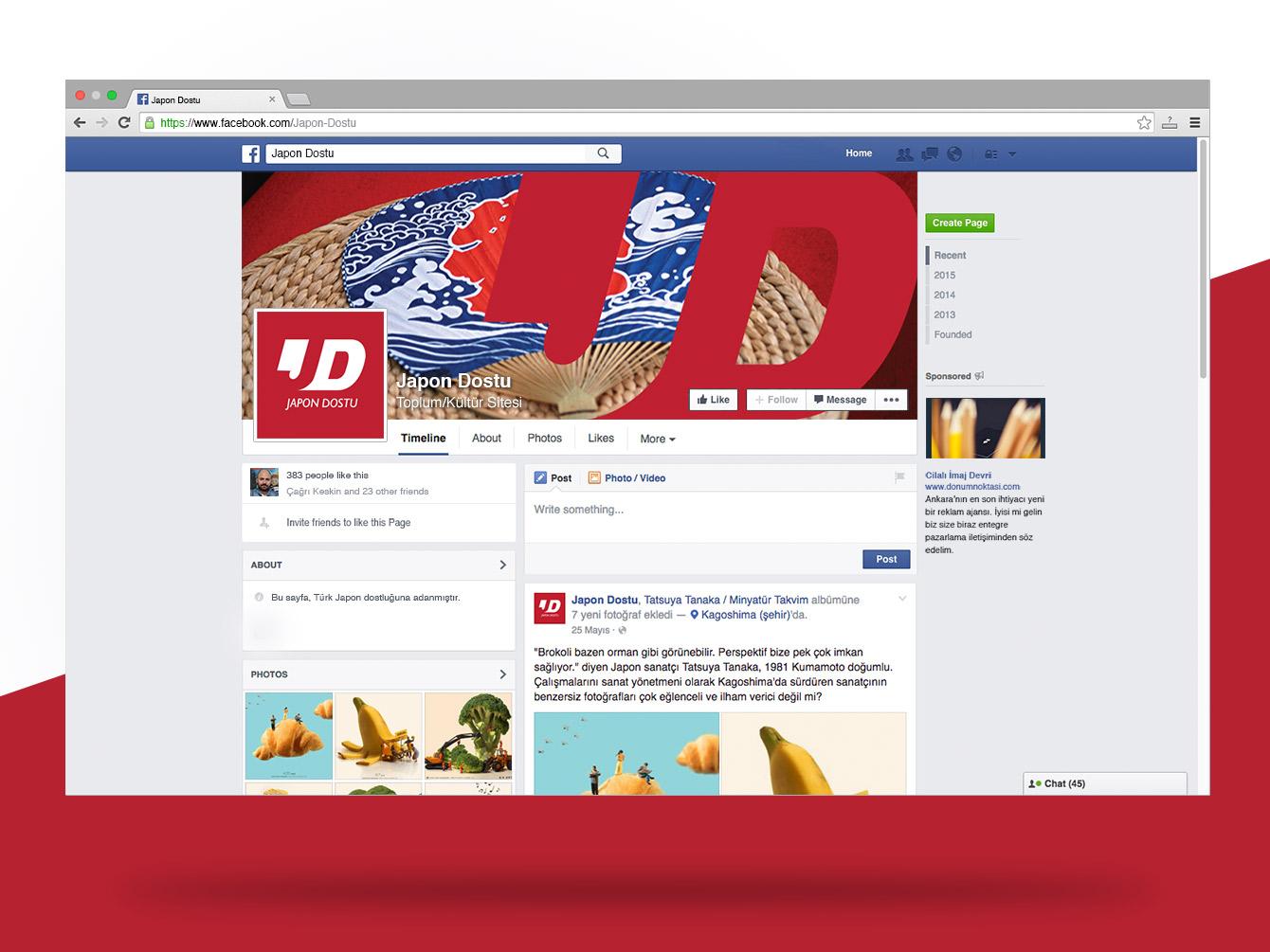 Japon Dostu Facebook Sayfası